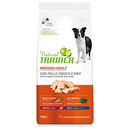 Natural Trainer Cibo per Cani Medium Adult Pollo&Riso 12kg