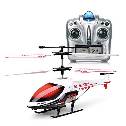 MKZDGM Mini Elicottero Telecomandato da 3.5 Canali Giroscopio e Luce a LED Incorporati per...