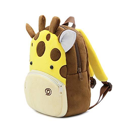 MOPOIN Rucksack Kindergarten, Kinderrucksack für Kleinkinder Plüsch Tier Cartoon Mini Kinder Tasche für 2-5 Jährige im Kindergarten (Giraffe)