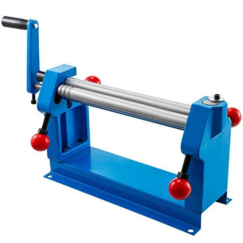 VEVOR 12 in. Slip Roll Roller Metal Plate Bending Round Machine,Slip Roll Machine Up to 18 Gauge Steel,Sheet Metal Roller,Slip Rolling Bending Machine with Two Removable Rollers