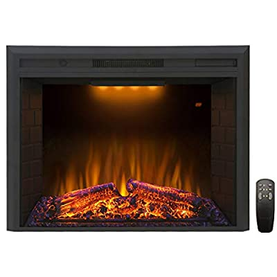 Valuxhome Houselux 750W/1500W, Embedded Fireplace Electric Insert Heater, Fire Crackler Sound