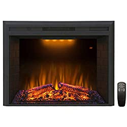 Valuxhome Electric Fireplace Insert with Crackling Noises