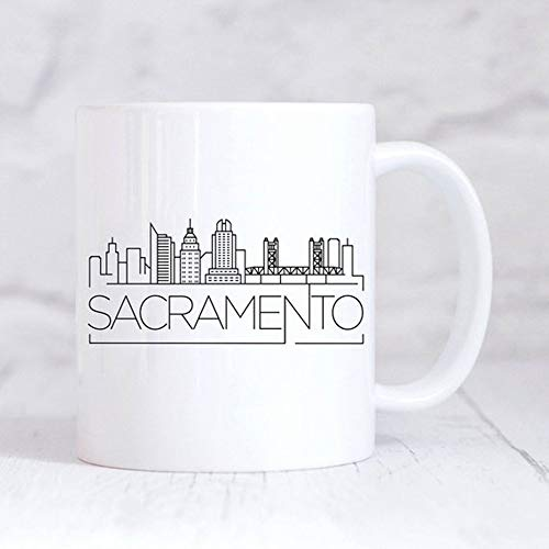 Sacramento City Skyline Mug/Housewarming Mug/New Home Mug/My Home City/Sacramento Custom Mug/Home Gift Mug/California Mug, Ceramic Coffee Mug 11oz
