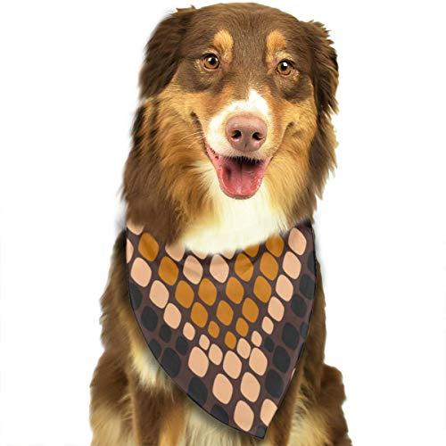 Animal de patrones sin fisuras Vector imagen perro Bandana, triángulo baberos de tela escocesa pañuelo bufanda para perro gato mascota