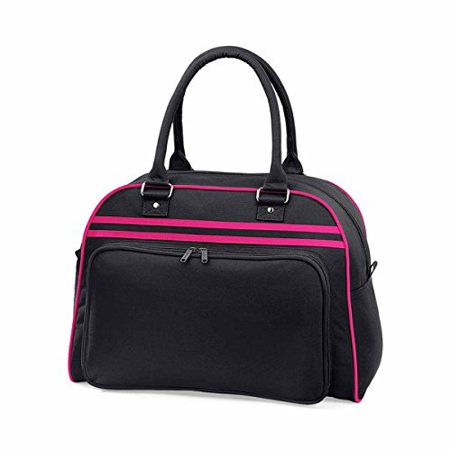 Bag Base Sac de Sport rétro pour Bowling Noir/Fuchsia