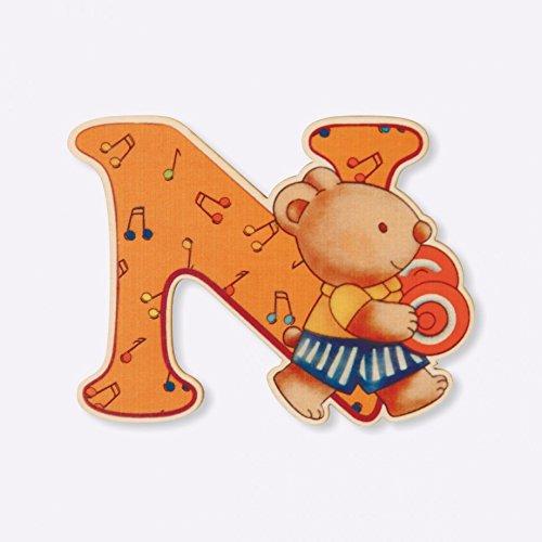 Dida - Lettre N Bois Enfant - Lettres Alphabet Bois pour Composer Le nom de Votre bébé et décorer la Chambre