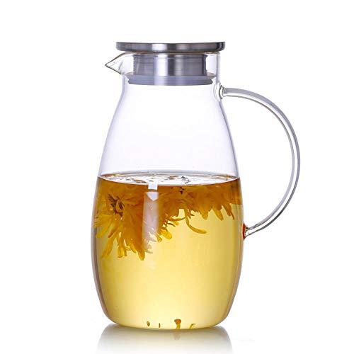 RXQCAOXIA Glazen theepot voor één persoon met hittebestendig roestvrijstalen filter Perfect voor thee en koffie