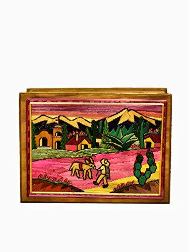 alhajeros de madera decorados fabricante Casa Mejicú Artesanías