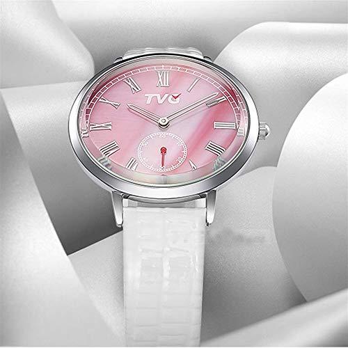 FENKOO TVG Armbanduhren Uhruhr der weiblichen Uhr der Frauen TVG Uhr der Art und Weiseuhrmädchen-Quarzuhr (Color : 2)