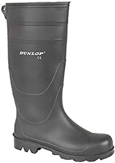 Dunlop Mens Wellington Boots Waterproof Wellington Wellies Boots (9 UK, Black)
