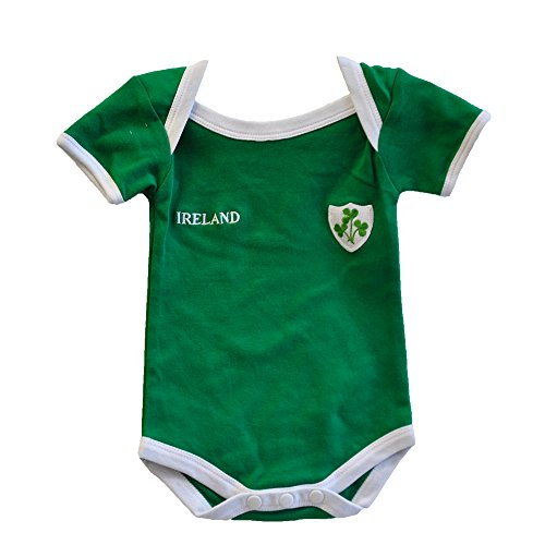 Lansdowne Ireland Rugby Vest Designed with A Small Ireland Print and Shamrock Badge,Green,6-12 Months