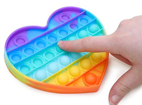 Toyland Push Bubble Pop Bubble Giocattolo sensoriale Pop It - Moltissimo tra Cui Scegliere (Cuore Arcobaleno)