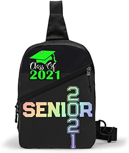 College Senior 2021 - Bolso bandolera bandolera para senderismo, para mujer, hombre, resistente al agua