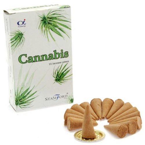 Imagen del productoConos de incienso Stamford–Cannabis 12paquetes de 15piezas