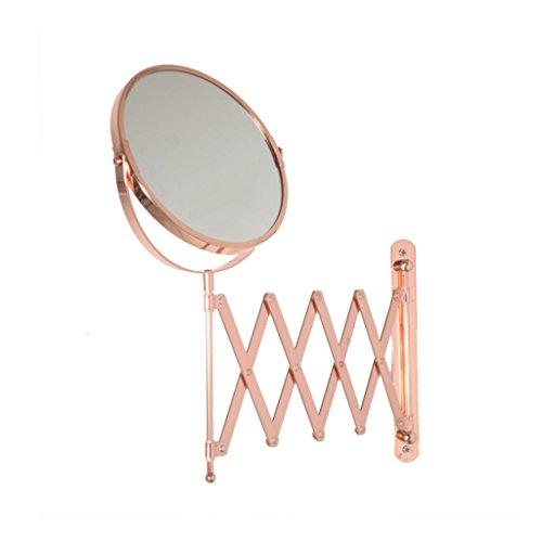 C-J-Xin Kann gespiegelter Spiegel, Falten-Wand-Berg-Spiegel-Badezimmer-Schlafzimmer-Hotel-Dressing-Spiegel kreativer Metallkosmetik-Spiegel Sein Schminkspiegel (Farbe : Pink)