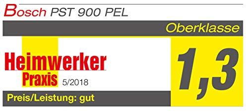 Bosch DIY Stichsäge PST 900 PEL, 1 Sägeblatt T 144 D, Spanreißschutz, CutControl, Transparenter Abdeckschutz, Sägeblattdepot, Koffer (620 W, Schnittiefe 90 mm Holz, 8 mm Stahl) - 8