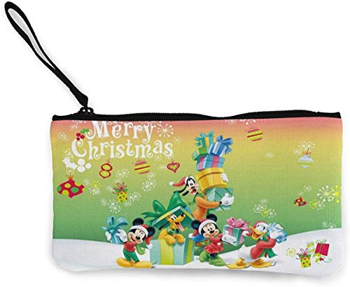Mickey Mouse portemonnee (Canvas Zipper Make Up Pouches) met armband mobiele telefoon zak