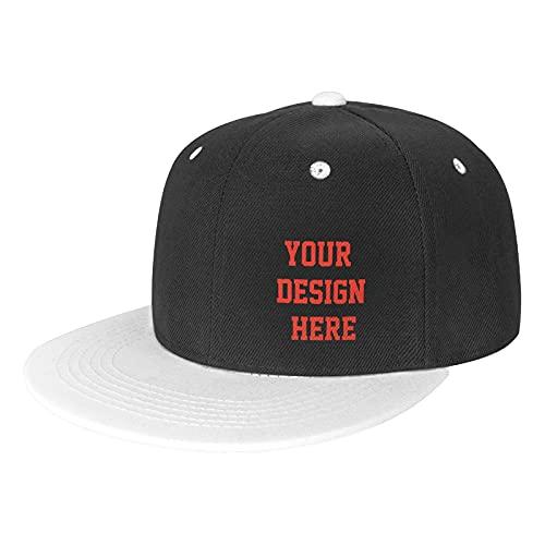 Gorra de béisbol plana ajustable unisex personalizada,...