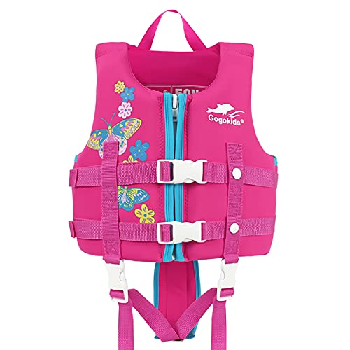 Gogokids Baby Life Jacket Kids Swim Vest Kids Pool Float with Adjustable Safety Strap, Swimming Pool Aid Floats for 6-9 Years Boys and Girls, Children Puddle/Beach, As A Jumper