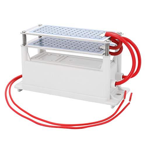 KKmoon 10g/h Generador de Ozono de Cerámica Portátil de Doble Placa Integrada,Ozonizador Purificador de Aire de Agua