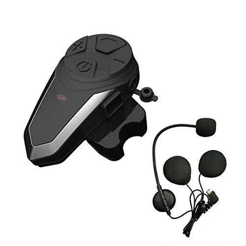 XWSQ 1200M BTS3 Bluetooth Casco Intercom BT-S3 IPX7 Impermeable BT 3.0 con Auriculares FM Motocicleta Bluetooth Casco Bluetooth Intercoming 3 Jinetes (Color : 1pc for Half Face)