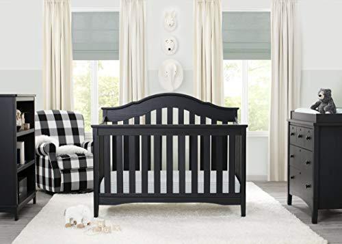 Delta Children Farmhouse 6 in 1 Convertible Baby Crib, Textured Grey