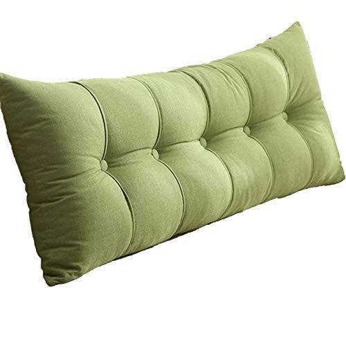 TUCY Cojínes Grandes Cushion Triangular Wedge Almohada, Terciopelo Grande Bolster Cabeceros De Cama De Cojín De Lectura Lumbar Almohada Larga para Cama Y Sofá (Color : Green, Size : 120x20x60cm)