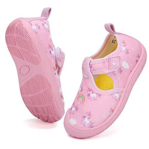 DimaiGlobal Zapatos de Agua Calcetines Descalzos de Secado rápido para Niñas Niños Piscina de Playa Natación para Buceo Surf Yoga Ejercicio Zapatos para Interiores