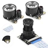 Visión nocturna IR Módulo cámara de 5 millones de píxeles Módulo cámara de 3.3V Kit cámara fotosensible compatible con Pi 4B / 3B + / 3B / 2B