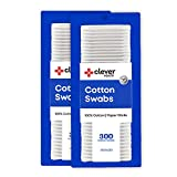 Cotton Swabs 600 count, 100% cotton |Hypoallergenic | Paper Stick Cotton Swabs
