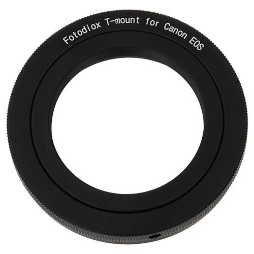 Fotodiox Lens Mount Adapter - T-Mount (T/T-2) Screw Mount SLR Lens to Canon EOS (EF, EF-S) Mount SLR Camera Body