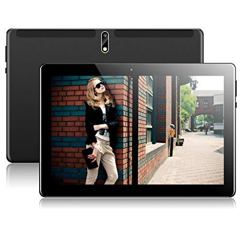 Tablet 10 Zoll Android Tablet PC mit Dual Simkarten Slot PADGENE 1280x800 Quad Core CPU Google Tablet PC USB/SD 2.0/8.0 MP Dual Kamera WiFi/3G Entsperrt Bluetooth 4,0 GPS Telefonfunktion