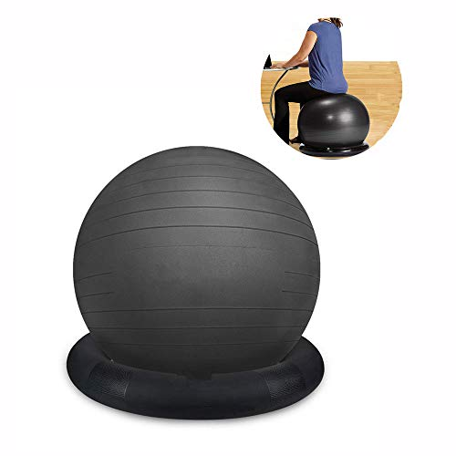 Great Price! CCTYCC Balance Ball, Tasteless Safety, Explosion-Proof and Stable 55/65cm Yoga Ball Cha...
