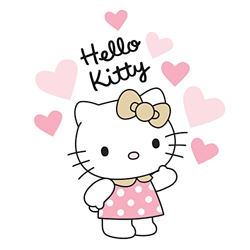Bedtime Originals Hello Kitty Luv Hearts Wall Appliques, Pink/Gold