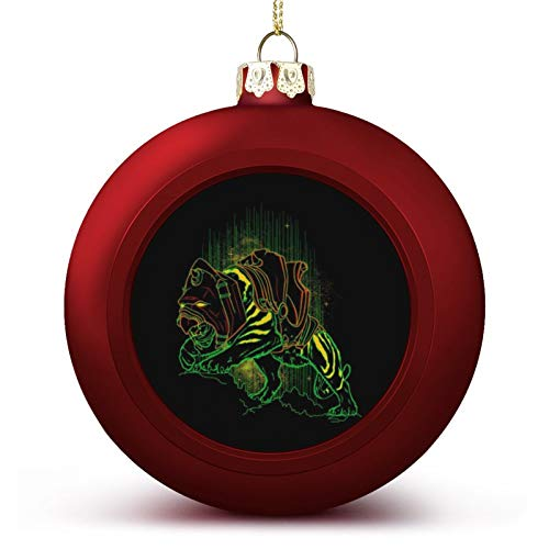 VNFDAS He Man Master of The Universe Battle Cat Custom Christmas ball ornaments Beautifully decorated Christmas ball gadgets Perfect hanging ball for holiday wedding party decoration