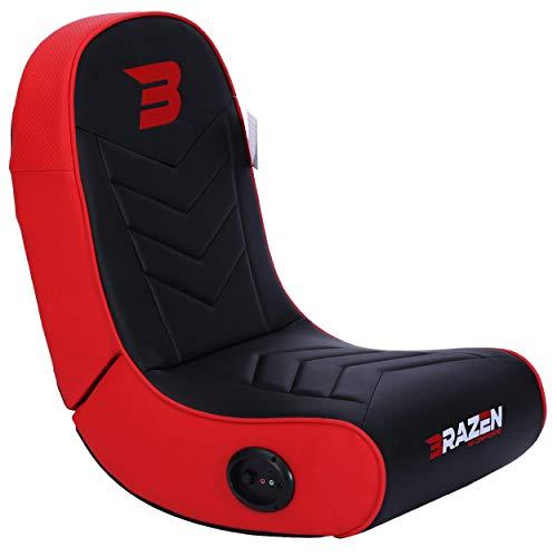 BraZen Stingray 2.0 Children Gaming Chair Foldable Floor Rocker with Speaker - Red