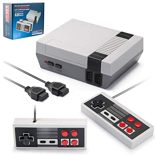 Classic Retro Game Console with 2 Controllers for NES Style, Mini Video Game Consoles with 620 Games 【AV Output】