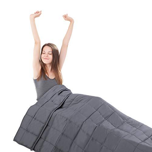 MVPower Gewichtsdecke Schwere Decke, 9 kg Therapiedecke für Erwachsener und Kinder, Gegen Schlafstörung und Stress Therapiedecke, Beschwerte Decke aus 100% Baumwolle mit Glasperlen, 153 x 203cm