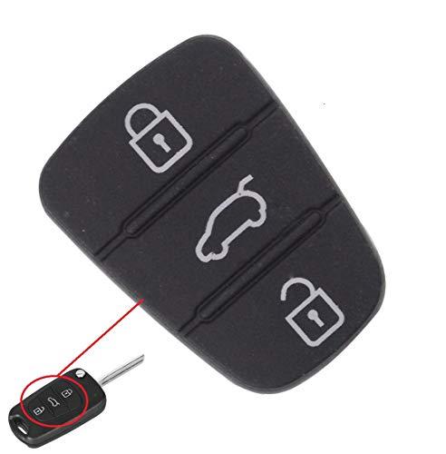 1x Gummi Tastenfeld mit 3 Tasten Ersatztasten für abgenutzte und defekte Tasten oder Schlüsselgehäuse, Auto Schlüssel