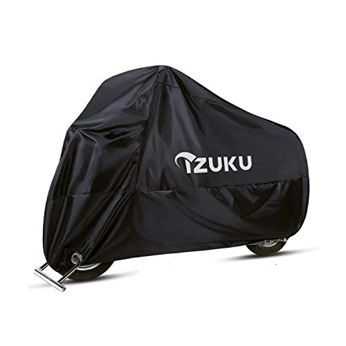 IZUKU Telo Coprimoto Impermeabile Universale,Teli per Moto Motorino Motociletta Anti-UV Antipolveri con 1 Borsa Trasporto 245 * 105 * 125cm,Beverly,Yamaha,Kawasaki,Honda.