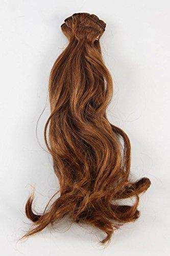Postiches Femmes marron clair polyester 8 pièces 12 cm