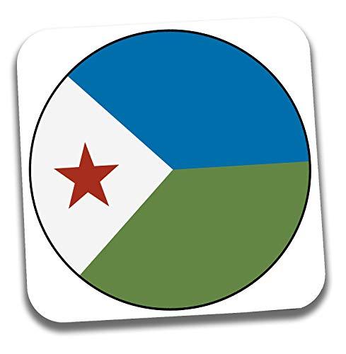 Untersetzer mit Dschibuti-Flagge – Geschenk – Geburtstag – Weihnachten – Strumpffüller – Secret Santa