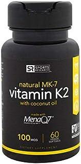Sports Research, Vitamin K2, 100 Mcg, 60 Veggie Softgels