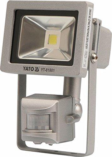 Halogeen koplamp buitenlamp roestvrij staal met bewegingssensor 10 W, 700 Lm YT-81801