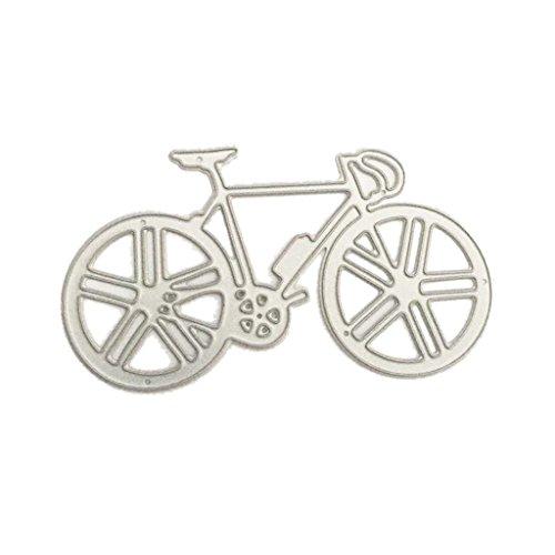 Moonbrid Fahrrad Cutting Dies, Metall Stanzmaschine Stanzschablone Stanzformen Schablonen DIY Scrapbooking Handcraft Fotoalbum Papier Karten