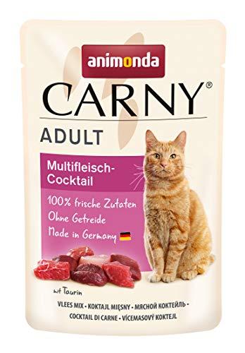 animonda Carny Adult Katzenfutter, Nassfutter für ausgewachsene Katzen, Frischebeutel, Multifleischcocktail, 12 x 85 g