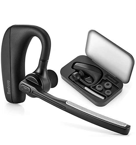 Auricular Bluetooth 4.1, Beshoop Manos Libres Bluetooth Auriculares Cancelación del Ruido Auricular Inalámbrico con Micrófono Integrado para Móvil iPhone, Samsung, Huawei yotros