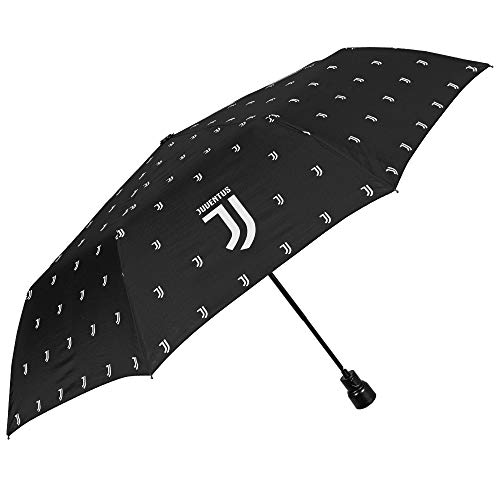 Paraplu Juventus FC - Juve snelheidsscherm automatisch met officieel logo - heren dames kinderscherm - winddicht en stormbestendig - zwart - PFC Free - diameter 96 cm - Perletti