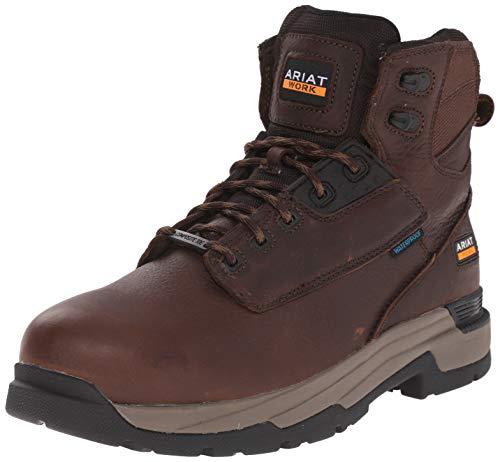"ARIAT Mastergrip 6"" Waterproof Composite Toe Work Boot (11 D) Briar Brown"