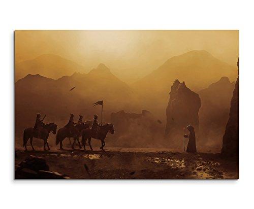 Cavelands Fantasy Wandbild 120x80cm XXL Bilder und Kunstdrucke auf Leinwand